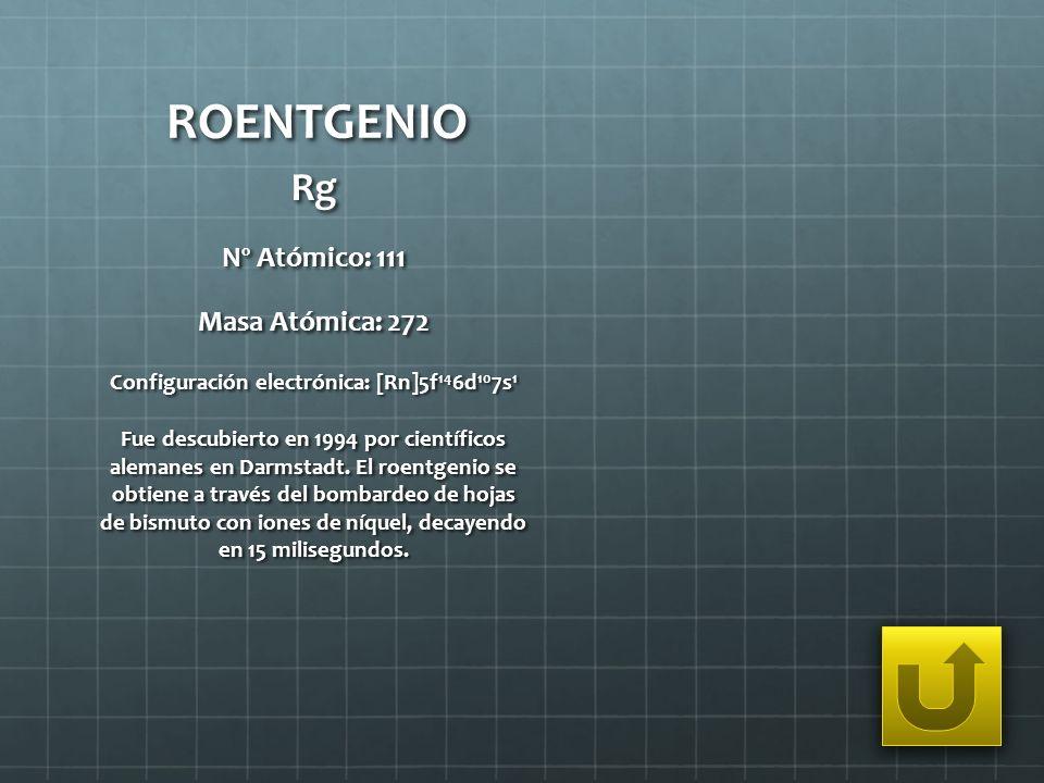 Configuración electrónica: [Rn]5f146d107s1